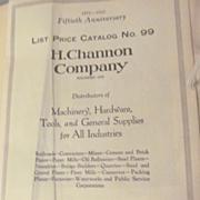 1925 H Channon Company Catalog, Chicago Illinois