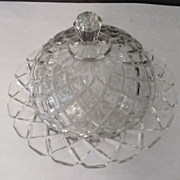 Waterford, Waffle Butter Dish by Hocking