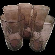6 Amethyst Seneca Driftwood, Hi-Ball, Crinkle 12oz Tumblers