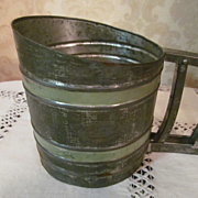 Large Sift-Chine, Double Screen Flour Sifter, Green Stripes, Good Housekeeping Institute