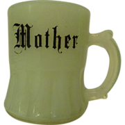 Custard Glass Toothpick Holder, Mother