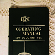 1954 EMD Diesel Locomotive Operating Manual, No 2319 for Model SD9 with Vapor Car Steam Genera