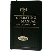 1954 EMD Diesel Locomotive Operating Manual, No 2319 for Model SD9 with Vapor Car Steam ...