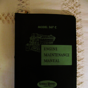 1957 EMD Diesel Locomotive Engine Maintenance Manual for Model 567C Engines, General Motors Co