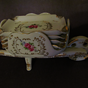 Porcelain 5pc Wheelbarrow Ashtray Set, Japan
