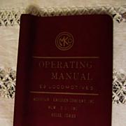 1973 Diesel Electric Locomotive Operating Manual #C2622 for Burlington Northern Model E9, Morr