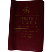 1973 Diesel Electric Locomotive Operating Manual #C2622 for Burlington Northern Model E9, ...