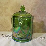 Indiana Harvest Grape Green Carnival Canister Jar