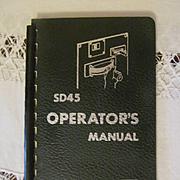 1968 EMD SD45 Diesel Locomotive Operators Manual, General Motors