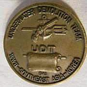 WWII UDT Underwater Demolition Team, Seals Metal Coin