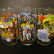 1981 Muppets, The Great Muppet Caper, McDonalds Henson Promo Glasses