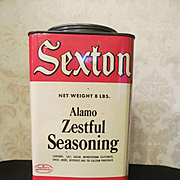 Sexton 8lb Alamo Zestful Seasoning, Pure Spice Tin