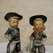 SOLD Western Cowboy Cowgirl Figurines by Maruri