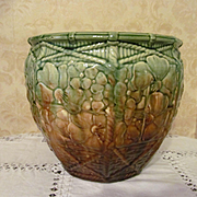 SOLD Majolica Pottery Jardiniere with Dogwood Flowers