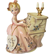 Josef Musicale Series Music Box, Tammy Playing Piano with Hang Tag & Label