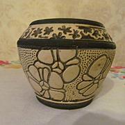 Weller Pottery Burntwood Mini Jardiniere, Cabinet Vase