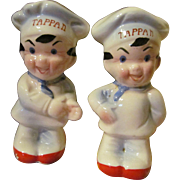 Tappan Chef Advertising Salt and Pepper Shakers