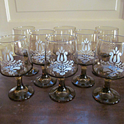 Pfaltzgraff Village Set of Eight Goblets