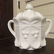Westmoreland Cherry and Cable Cracker Biscuit Jar