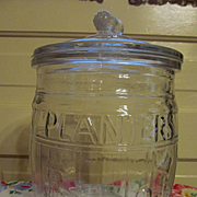 Planters Peanuts Advertising Barrel Counter Top Jar
