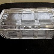Hazel Atlas Criss Cross Rectangular Refrigerator Dish