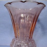 "Anchor Hocking Pink Pineapple 9"" Vase"