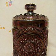 Imperial Carnival Glass Hobstar Cracker Jar
