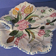 Lovely Blue Ridge Verna Maple Leaf Cake Tray