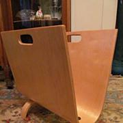 Cool Mid Century Molded Plywood Magazine Rack