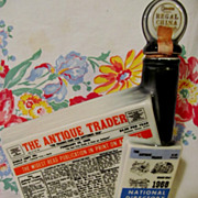 1968 Antique Trader,Directory of Antique Dealers, Kewanee IL  Advertising Beam Bottle, Regal .