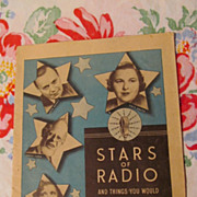 SOLD Stars of Radio Paperback Booklet, Promo of Dr Nervine Medicine