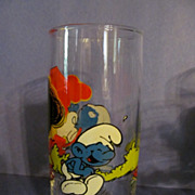 1982 Smurf Jokey Hardee's Glass, Peyer, Wallace Berrie