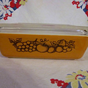 SOLD Pyrex Old Orchard 1 1/2qt Refrigerator, Oven Ware Dish