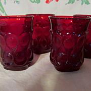 4 Noritake Ruby Red Spotlight Tumblers