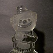 Viking Glass Clown Bookend, Paperweight