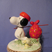 SOLD Snoopy & Woodstock Music Box by Aviva