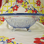 "Moonlight Blue Cambridge Caprice 12 1/2"" Bowl"