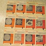 1958 Workbasket Needlecraft Magazine,Complete Year,12 Issues