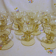 Cambridge Allegro Gold Krystol Champagne Goblets