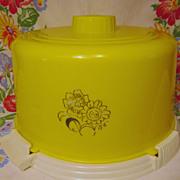 Yellow Plastic Cake Keeper Saver