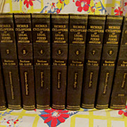 1936 Cyclopedia of Legal Forms Annotated, 9 Volume Set,Clark A Nichols