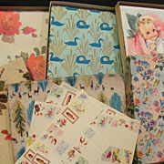 3 Boxes Full of Occasional Sheet Wrapping Paper + 3 Extra & Name Labels