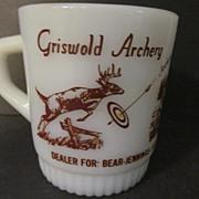 Fire King,Hocking Griswold Archery Stacking Mug