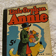 1937 Little Orphan Annie & the Big Town Gunmen Comic Strip Book,Harold Gray, Whitman
