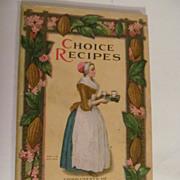 1924 Choice Recipes, Baker Chocolate Company, Walter Baker & Co