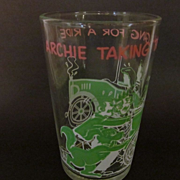 1971 Archie Taking the Gang for a Ride, Welchs Jelly Glass, Pink & Green