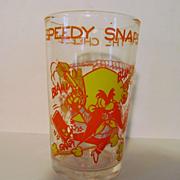1974 Welch's Speedy & Yosemite Sam Jelly Glass, Warner Bros