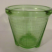 SALE PENDING Green 2 Cup Vidrio Depression Jar