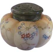 Mt Washington Melon Sugar Shaker, Vase & Flower Lid