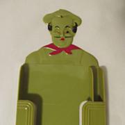Plastic Chef Memo Pad and Pencil Holder